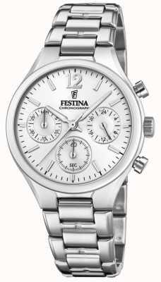 Festina Boyfriend chronograaf voor dames van roestvrij staal F20391/1