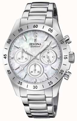 Festina Womens boyfriend chronograph stainless steel bracelet F20397/1