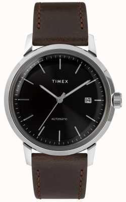 Timex Marlin automatisch | bruine leren riem | TW2T230007U