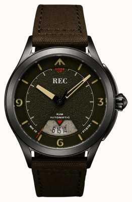 REC | pt879 mk ix spitfire | canvas riem | automatisch horloge | RJM-03