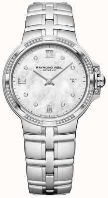 Raymond Weil Parsifal dames quartz classic | 56 diamanten | parelmoer 5180-STS-00995