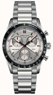 Certina Mens ds-2   precidrive chronograaf   zilveren wijzerplaat   C0244471103101