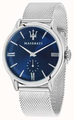 Maserati Epoca 42mm voor heren | blauwe wijzerplaat | zilveren mesh armband R8853118006