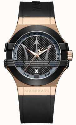 Maserati Mens potenza-analoog | zwarte wijzerplaat | zwarte leren riem R8851108002