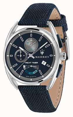 Maserati Trimarano yatch timer 41 | blauwe wijzerplaat | blauwe stoffen riem R8851132001