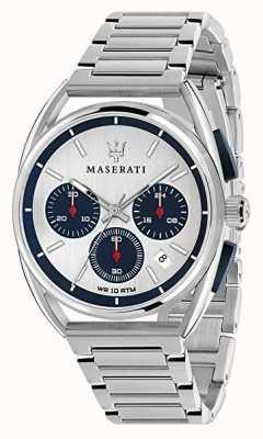 Maserati Trimarano heren 41 mm | zilver / blauwe wijzerplaat | roestvrij staal R8873632001