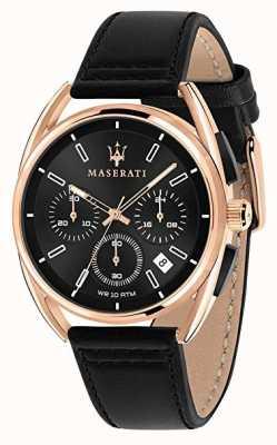 Maserati Trimarano heren 41 mm | roségouden kast | zwarte wijzerplaat | R8871632002
