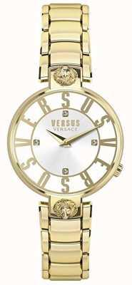 Versus Versace Dames kristenhof | zilveren wijzerplaat | goud roestvrij staal VSP490618