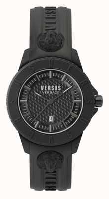 Versus Versace Tokyo r | zwarte wijzerplaat | zwarte siliconen riem VSP0Y2318