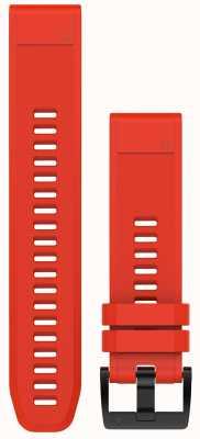 Garmin Vlamrode rubberen riem quickfit 22mm fenix 5 / instinct 010-12496-03