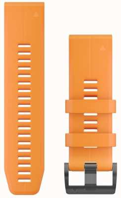 Garmin Oranje rubberen strap quickfit 26mm fenix 5x / tactix charlie 010-12741-03