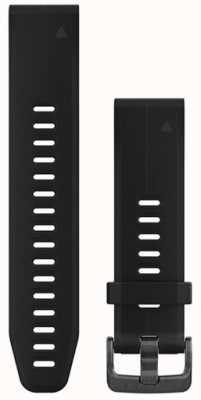 Garmin Zwarte rubberen strap quickfit 20mm fenix 5s 010-12739-00