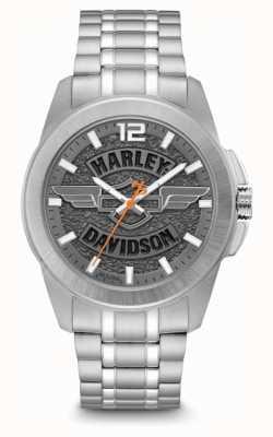 Harley Davidson Heren alleen tijd roestvrijstalen armband 76B180