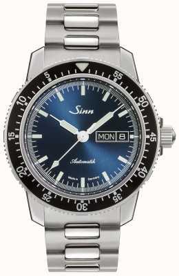 Sinn 104 st sa ib | roestvrijstalen armband | blauwe wijzerplaat 104.013-BM1040104S