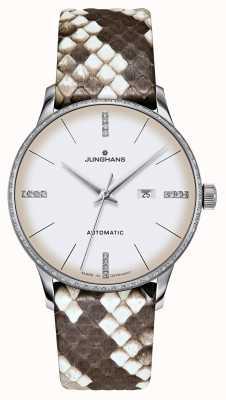 Junghans Meister damen automatisch | diamanten | python & hagedisriemen 027/4847.00