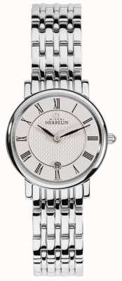 Michel Herbelin | dames | epsilon | witte wijzerplaat | roestvrij stalen armband | 16945/B01