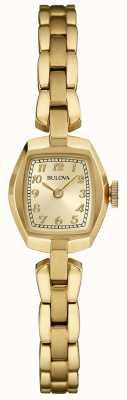 Bulova Verguld dameskwarts 97L155
