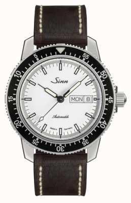 Sinn St sa iw classic pilot horloge lichtbruin kalfsleder vintage l 104.012-BL50202002007125401A