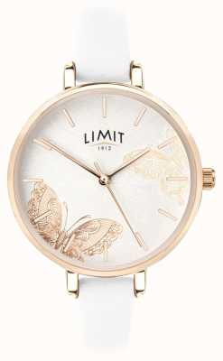Limit | het geheime de tuinhorloge van vrouwen | witte vlinderwijzerplaat | 60013