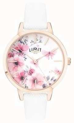 Limit | het geheime de tuinhorloge van vrouwen | roze en witte florale wijzerplaat 60021