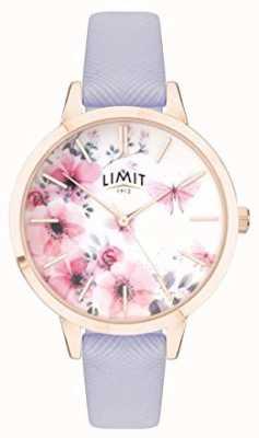 Limit | het geheime de tuinhorloge van vrouwen | roze en witte wijzerplaat | paarse strp 60022