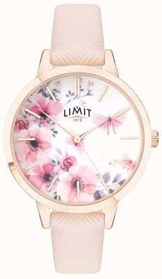 Limit   geheime tuin voor vrouwen   roze en witte bloemen wijzerplaat   roze streep 60023