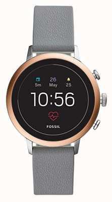 Fossil Verbonden q venture hr smart watch grijze siliconen band FTW6016