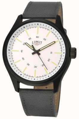Limit | heren | zwarte nylon band | witte wijzerplaat | 5949.01