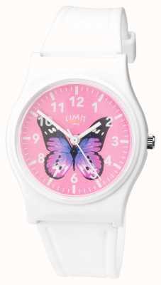 Limit   dames geheim tuinhorloge   roze vlinder wijzerplaat   60030.37