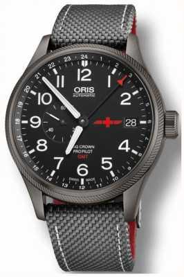 Oris Grote kroon propilot gmt kleine seconden 45mm herenhorloge 01 748 7710 4284-Set GMT Rega