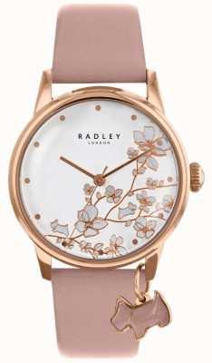 Radley Dames | achterstand bloem | roze leren riem RY2692