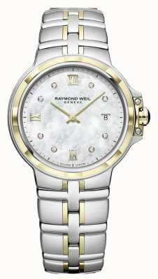 Raymond Weil Damesparsifal | wijzerplaat met diamanten | twee toon 5180-STP-00995