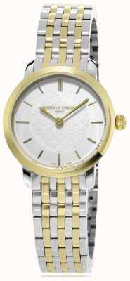 Frederique Constant dames | tweekleurige slimline | metalen horloge | FC-200WHS3B