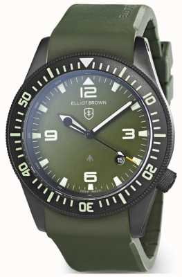 Elliot Brown | mens | holton professional | groen rubber 101-002-R04