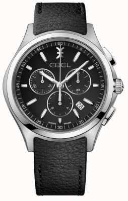 EBEL | heren chronograaf horloge | zwarte leren riem | 1216343