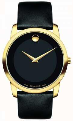 Movado | heren museum klassiek horloge | zwart leer | 0606876
