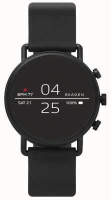 Skagen Aangesloten smartwatch zwarte siliconen SKT5100