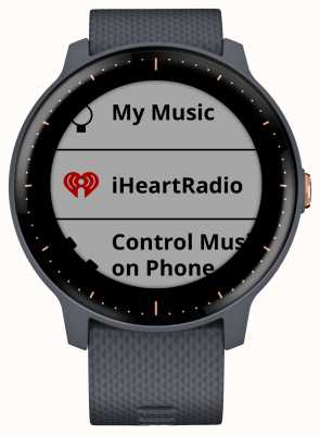 Garmin Vivoactive 3 music hr gps granite blue rose gold smartwatch 010-01985-32