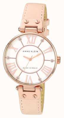 Anne Klein | womens signature horloge | naakt leer | 10-N9918RGLP