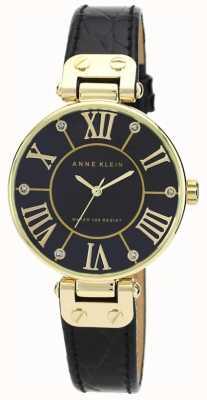Anne Klein   womens signature horloge   zwart en goud   AK-N1396BMBK