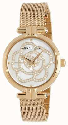 Anne Klein   het horloge van de vrouwenbloem gouden toon   AK-N3102MPGB