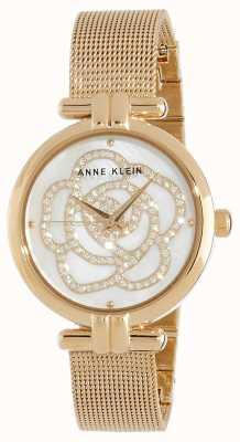 Anne Klein | het horloge van de vrouwenbloem gouden toon | AK/N3102MPGB