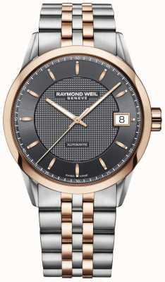 Raymond Weil | heren freelancer horloge | roestvrij staal en rosegoud | 2740-SP5-60021