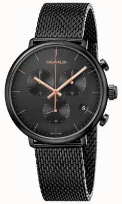 Calvin Klein | heren hoog middag zwart roestvrij staal | chronograaf | K8M27421
