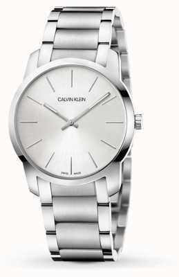 Calvin Klein | stadsuitbreiding horloge | tweekleurige roestvrijstalen armband | K2G22146