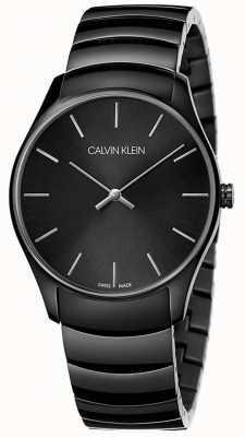 Calvin Klein | heren classic midsize | zwarte roestvrijstalen riem | K4D21441
