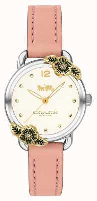 Coach | vrouwen delancey horloge | roze leer en roestvrij staal | 14503239