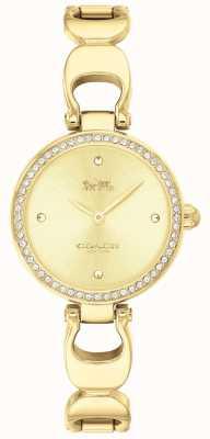 Coach | dames park horloge | gouden band gouden gezicht | 14503171
