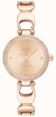 Coach | dames park horloge | roségouden riem rose goud gezicht | 14503172