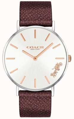 Coach | vrouwen perry horloge | rode leren riem | 14503154